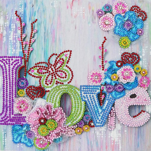 Love 30x30cm(canvas) beautiful special shaped drill diamond painting