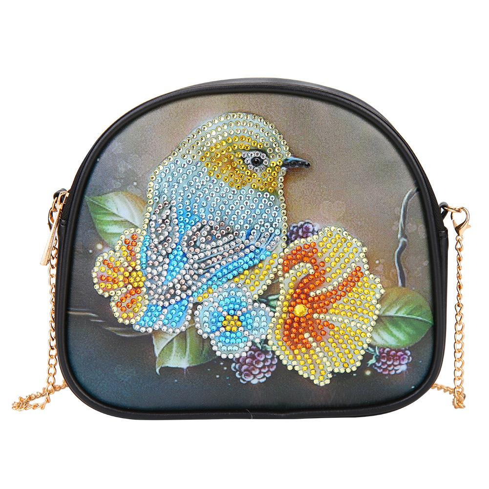 DIY Bird Special Shaped Diamond Painting Leather Chain Shoulder Bags Gifts