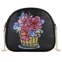 Load image into Gallery viewer, DIY Flowerpot Special Shaped Diamond Painting Leather Chain Shoulder Bags
