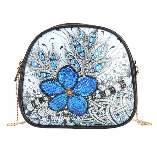 DIY Flower Special Shaped Diamond Painting Leather Chain Crossbody Bags