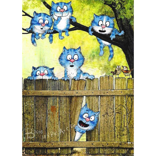Cats 30x40cm(canvas) full round drill diamond painting