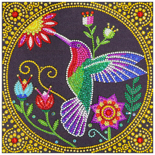 Bird 30x30cm(canvas) beautiful special shaped drill diamond painting