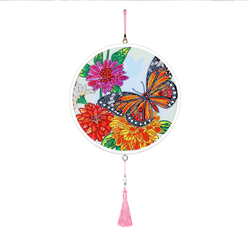 DIY Diamond Painting Butterfly Flower Tassel Wall Mural Picture Embroidery