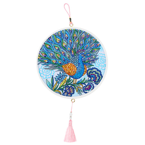 DIY Diamond Painting Peafowl Tassel Wall Picture Cross Stitch Embroidery