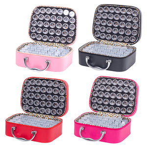 70 Bottles Diamond Painting Tool Storage Bag Rhinestones Jewelry Container
