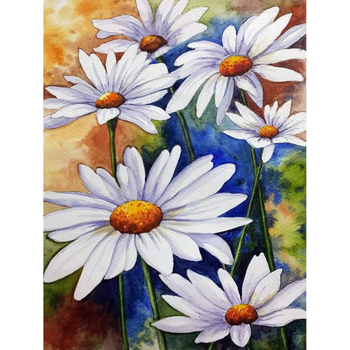 Flower 40x30cm(canvas) full round drill diamond painting