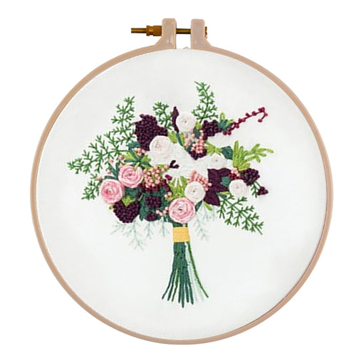 For Beginner DIY Happy Bridal Bouquet Embroidery Needlework Craft (511160)