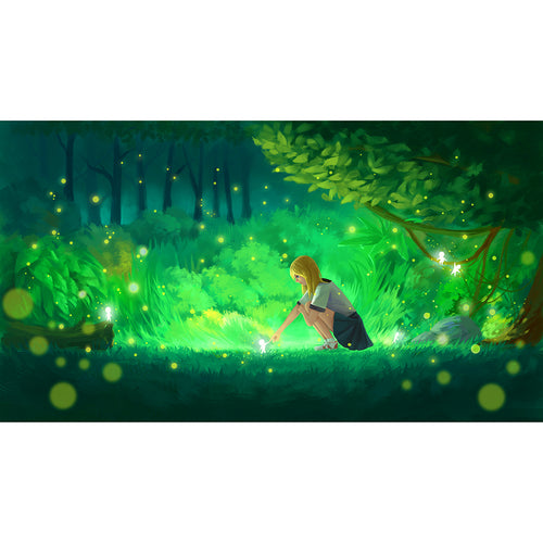 Girl in the Woods 75x50cm(size) 1000pcs paper jigsaw puzzles