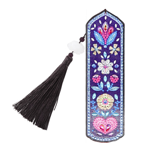 5D DIY Flower and Heart Bookmark Special Shaped Diamond Painting Bookmarks