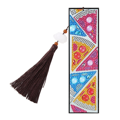 DIY Special Shape Diamond Painting Triangle Leather Bookmark Tassel Tab