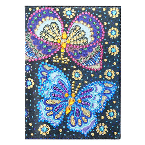 Butterfly DIY Special Shaped Diamond Painting Travel Leather Passport Cover