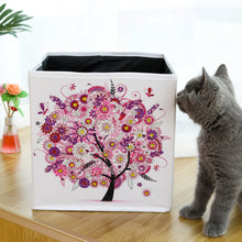 Load image into Gallery viewer, DIY Diamond Painting Tree Foldable Storage Box Desktop Sundries Container
