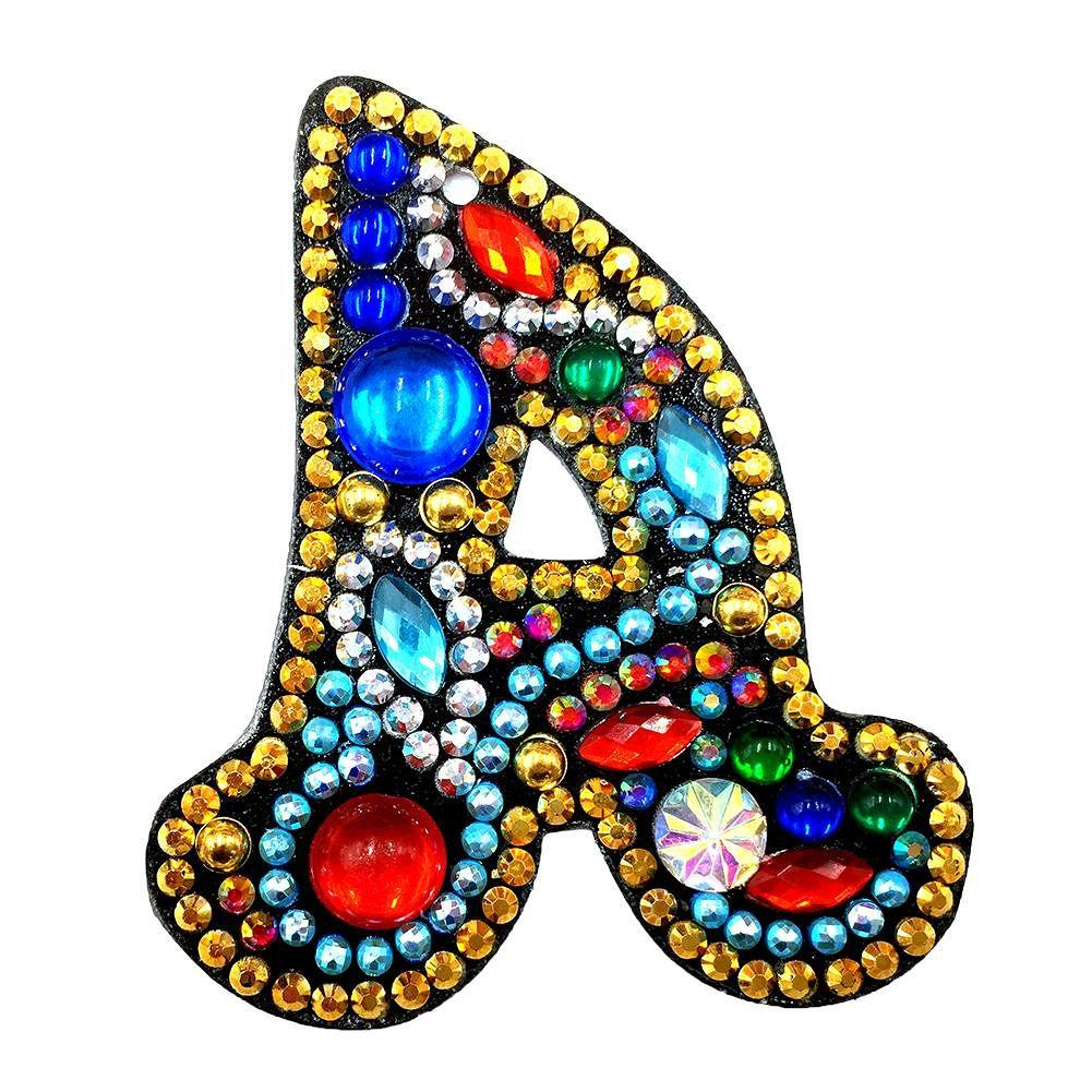 Letters A to Z 5D DIY Diamond Keychain