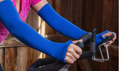 Arm and hand protection when exercising