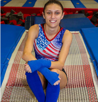 Girl with raynauds disease doing gymnastics wearing Limbkeepers
