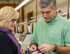 Limbkeepers inventor speaks to the manufacturing manager