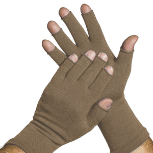 Khaki 3/4 finger gloves by Limbkeepers Australia