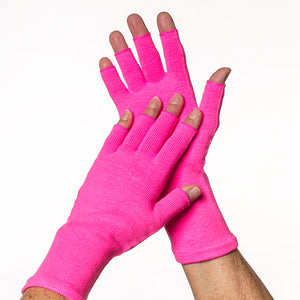 Pink 3/4 finger gloves to protect your skin