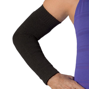 skin tear prevention sleeves in black color
