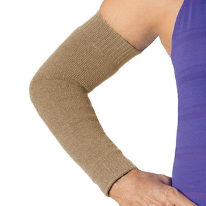 Khaki skin protection sleeve for full arm