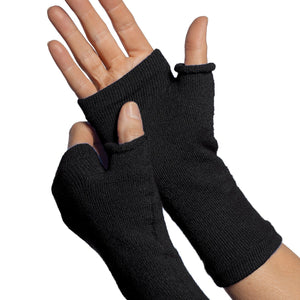 Gloves with no fingers black