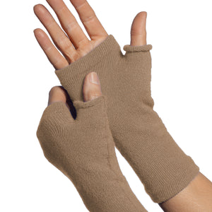 finger less glove khaki colour