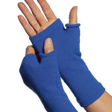 Load image into Gallery viewer, Royal blue fingerless gloves