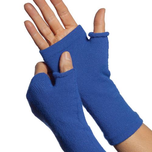 Royal blue fingerless gloves