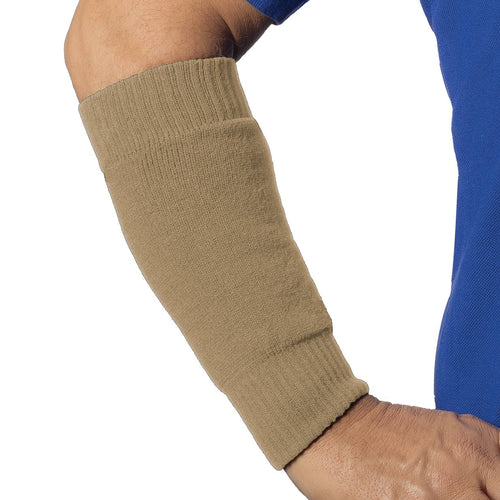 Forearm protectors in beige