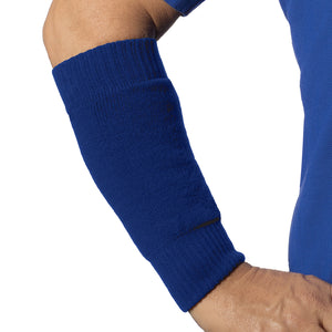 Seamless arm sleeve for the forearm in blue