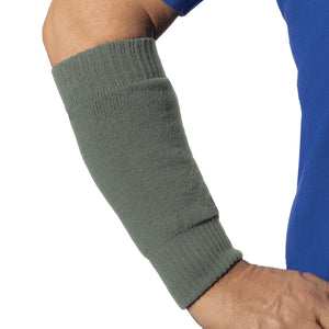 Olive colour arm sleeve to protect frail skin