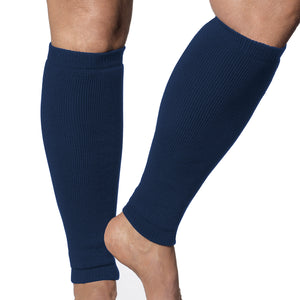Navy blue leg protection for fragile shins and legs