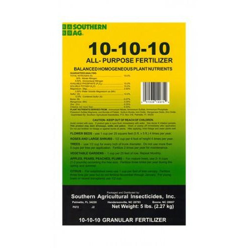 All-Purpose 10-10-10 Fertilizer - 5 Lbs.