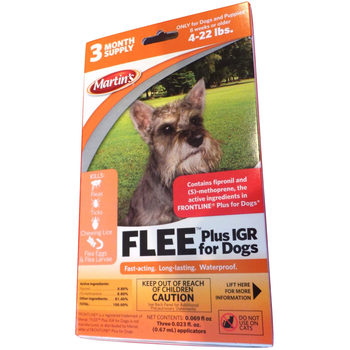 Flee Plus IGR for Dogs 4 - 22 Lbs.