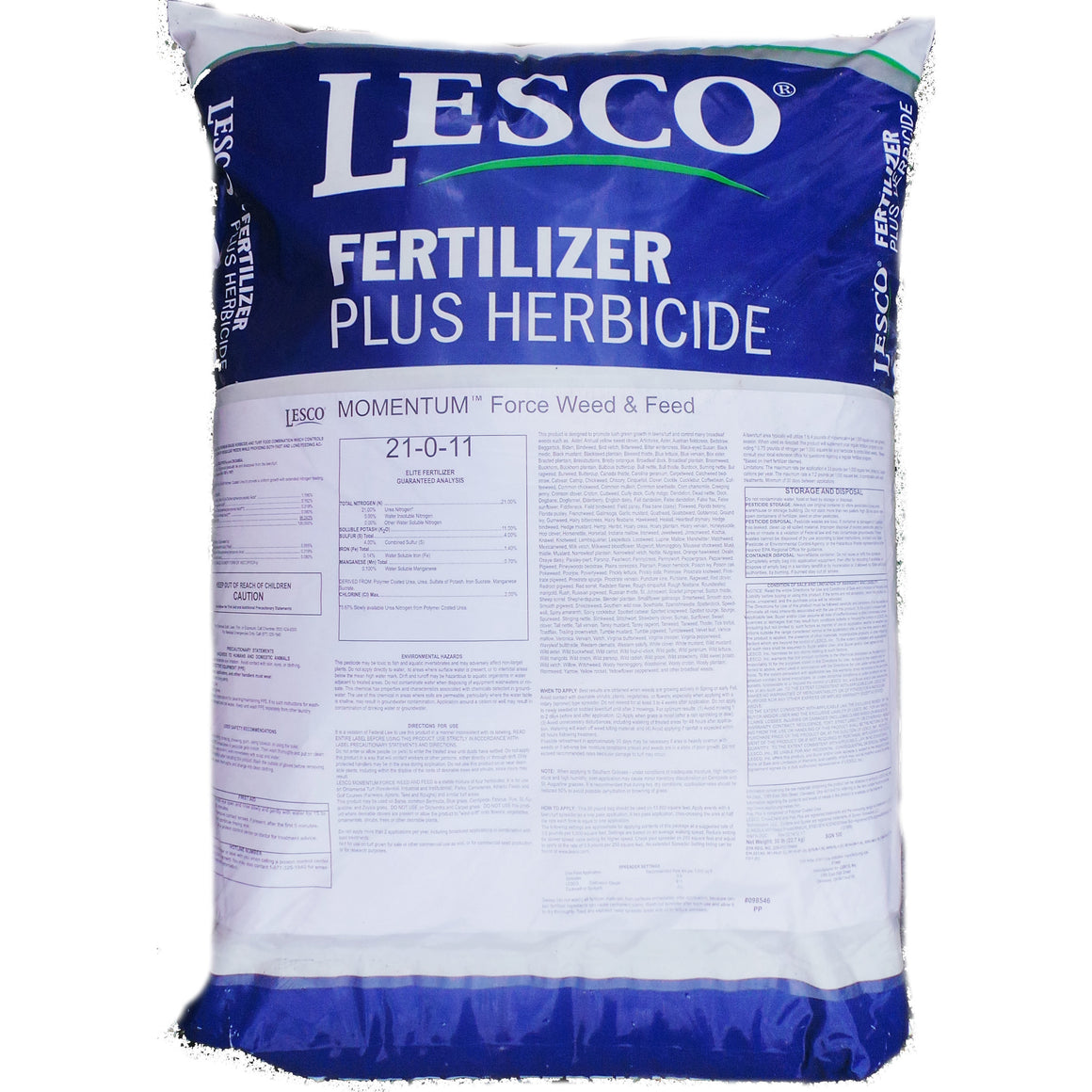 Lesco Tall Fescue lawn Weed & Feed 21-0-11 - 50 lbs.