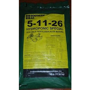 5-11-26 Hydroponic Special Soluble Fertilizer - 25 Lbs.