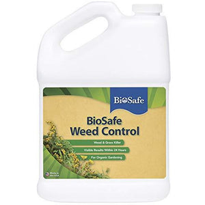 BioSafe Certified Organic Weed & Grass Killer Herbicide - 1 Gallon