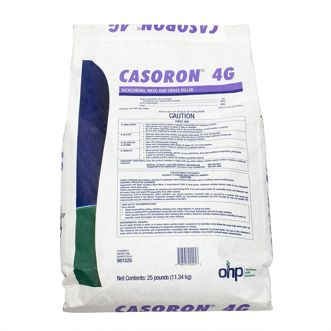 Casoron 4G Weed and Grass Killer Herbicide - 25 Lbs. - Seed World
