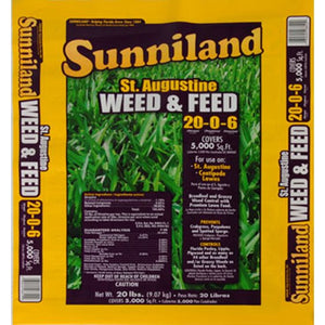 Sunniland St. Augustine Grass 20-0-6 Weed & Feed Fertilizer - 20 Lbs.