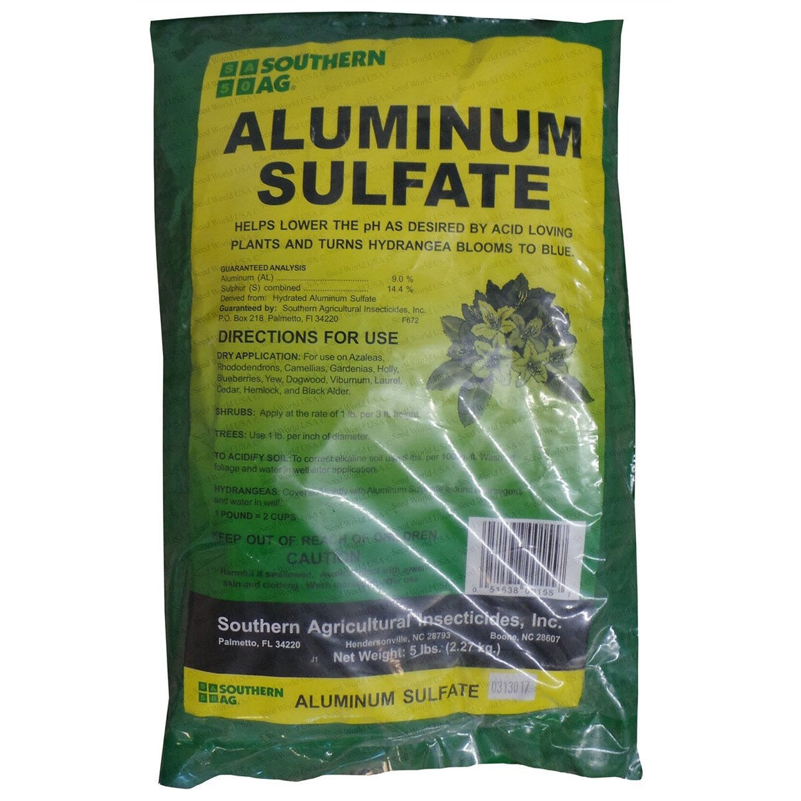 Aluminum Sulfate Fertilizer - 1 Lb. - Seed World