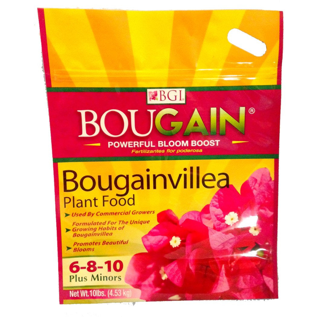 Bgi Bougain Bougainvillea 6-8-10 Fertilizer Plus Minors - 10 lbs. - Seed World