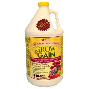 Grow and Gain 10-10-5 All Purpose Liquid Fertilizer Concentrated - 1 Gallon - Seed World