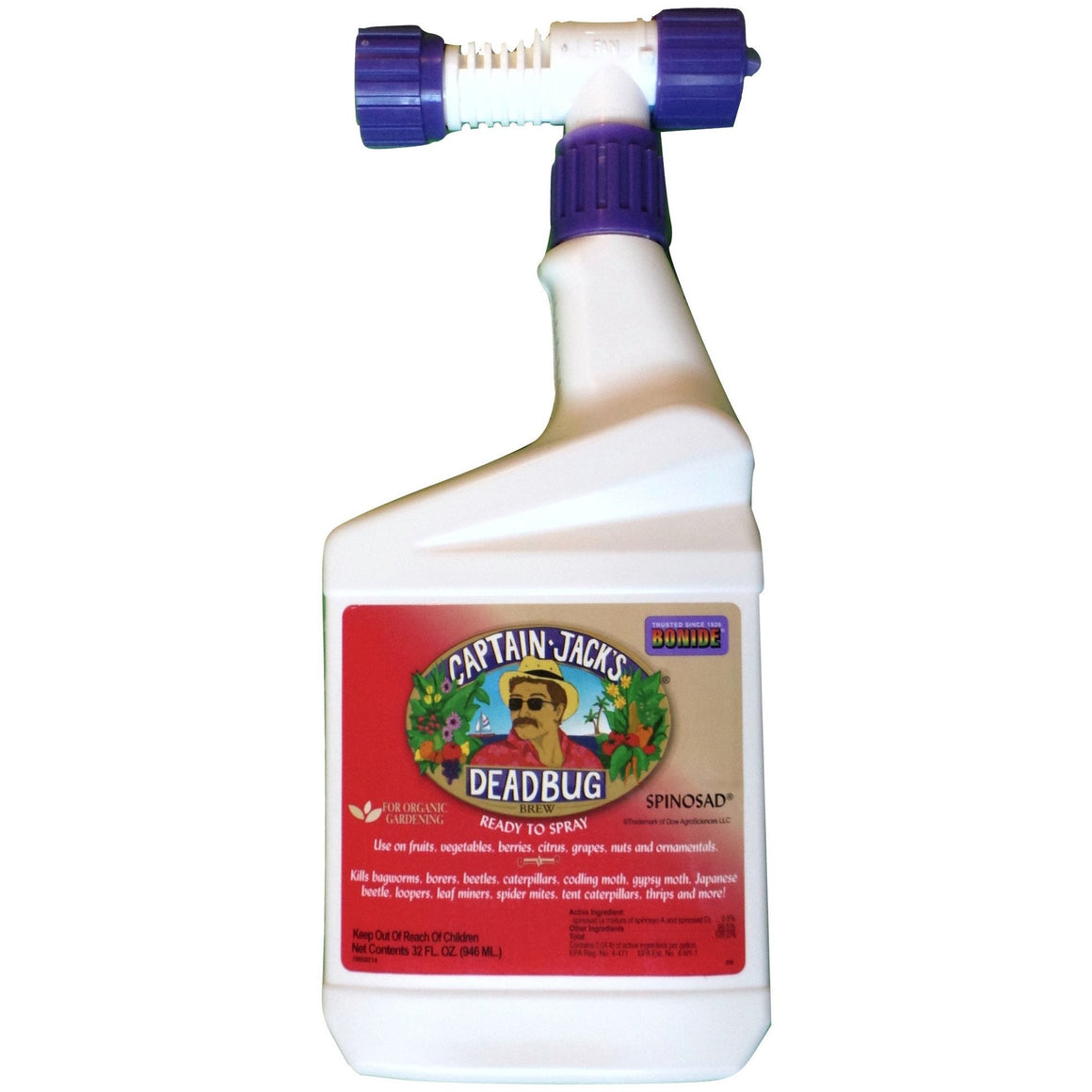 Bonide Captain Jack's Dead Bug RTS Spray Spinosad - 1 Quart