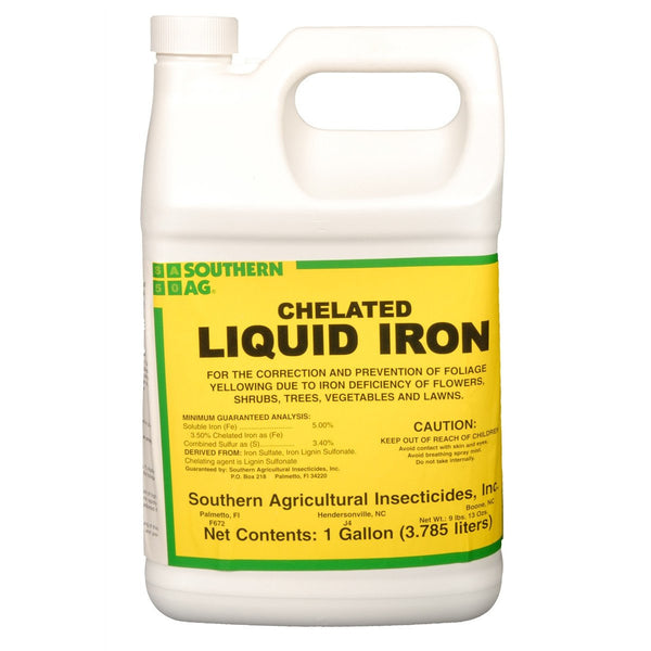 It is a graphic of Vibrant Fertilome Chelated Liquid Iron Label