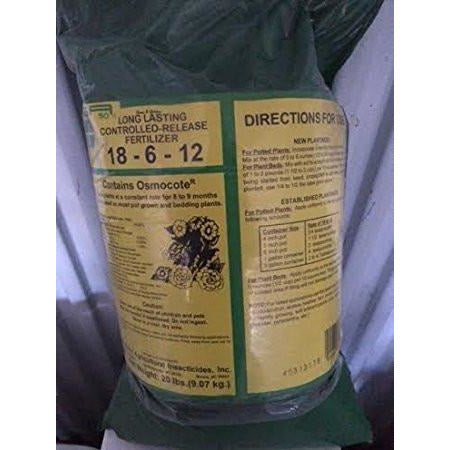 Controlled Release 18-6-12 Fertilizer - 20 Lbs.