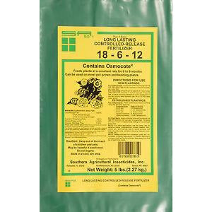 Controlled Release 18-6-12 Fertilizer - 5 Lbs.