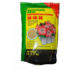 Southern Ag Controlled Release 14-14-14 Fertilizer - 5 Lbs.
