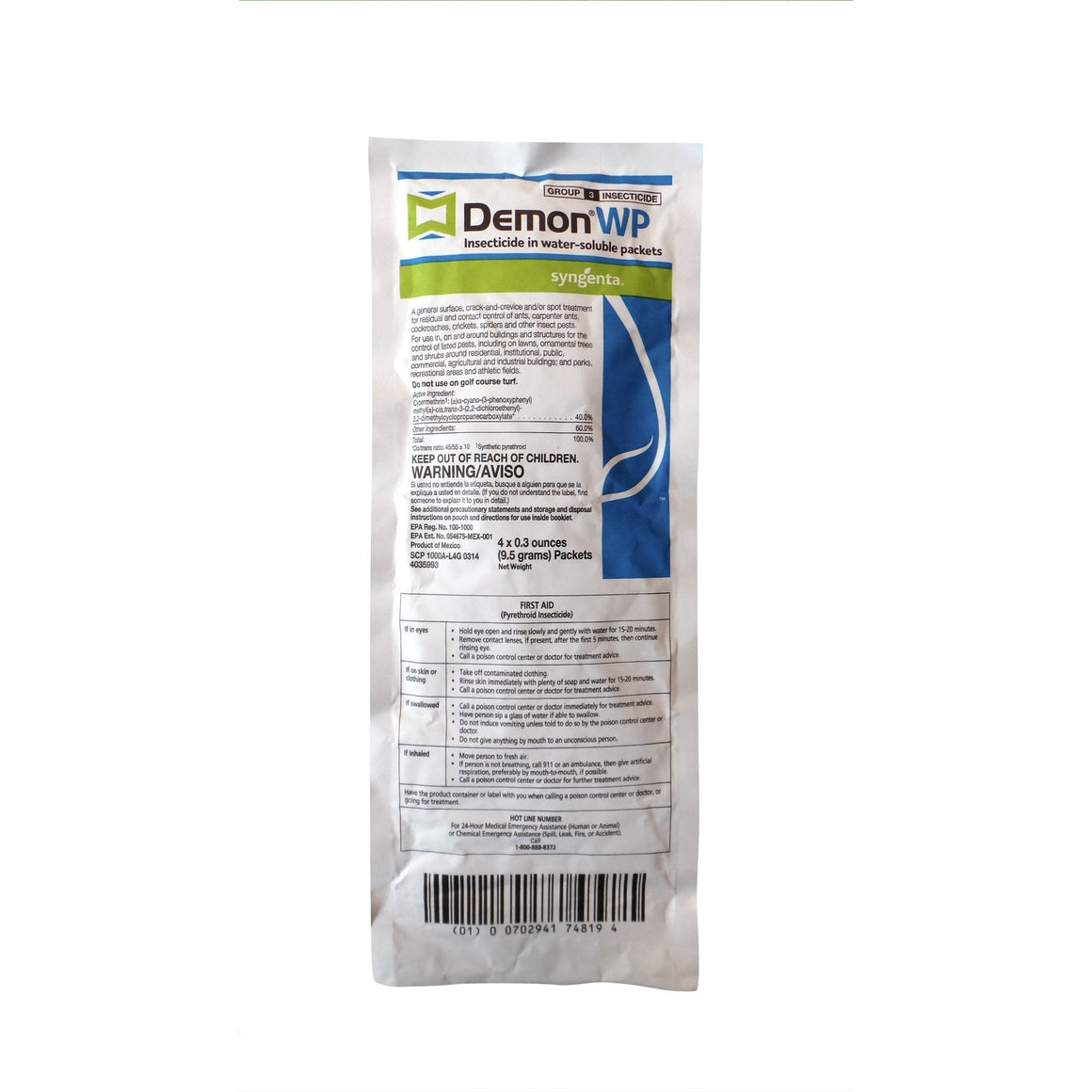Demon WP Insecticide - 4 x 0.3 Oz. Packets - Seed World