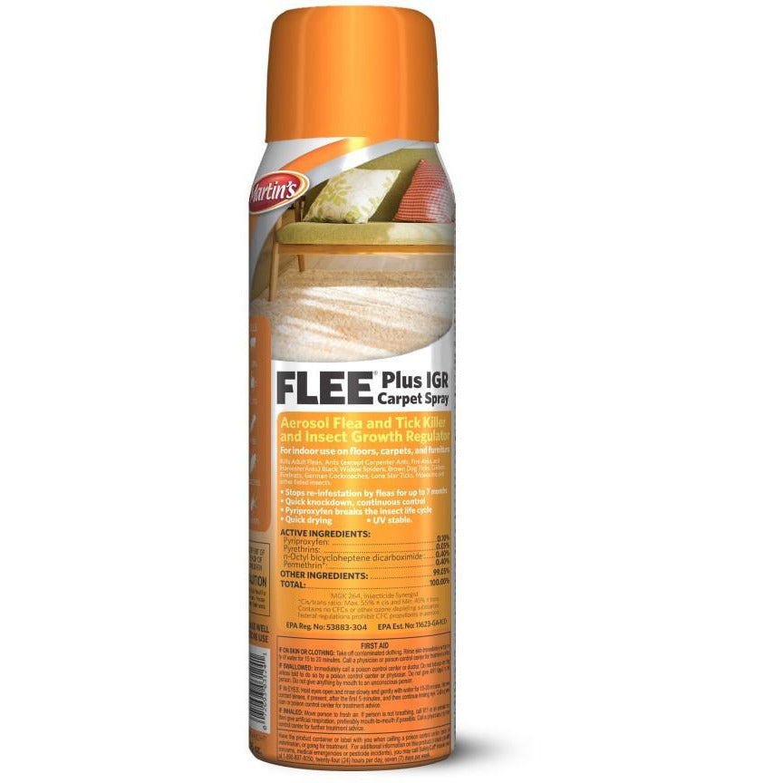 Flee Plus IGR Carpet Spray - 16 Ounces - Seed World