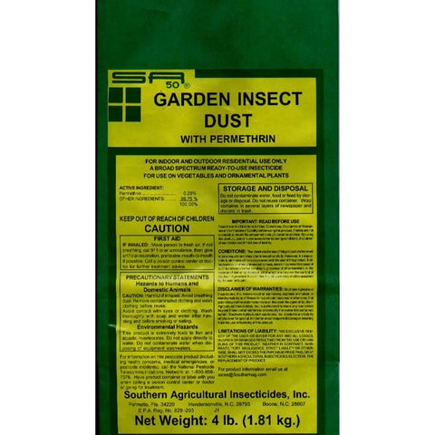 Garden Insect Dust Permethrin Insecticide - 4 Lbs.